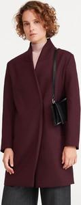 Fioletowy płaszcz Reserved z wełny w stylu casual