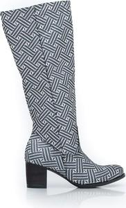 Kozaki Zapato przed kolano w stylu boho ze skóry
