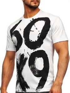 T-shirt Denley z krótkim rękawem z nadrukiem z bawełny