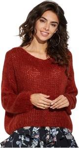 Czerwony sweter Ooh la la z moheru