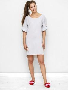 Sukienka Freeshion z tkaniny z krótkim rękawem