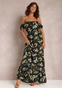 Czarna sukienka Renee maxi w stylu boho hiszpanka