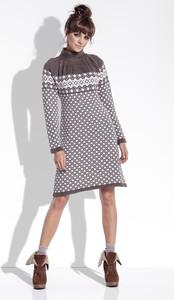 Sukienka Fobya mini z żakardu w stylu casual