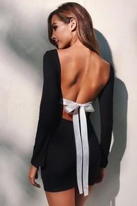 Czarna sukienka Ivet.pl w stylu casual z bawełny