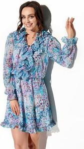 Sukienka Lemoniade z jedwabiu mini z długim rękawem