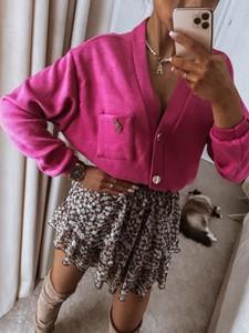 Różowy sweter Infinityfashion.pl w stylu casual