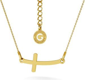 GIORRE SREBRNY NASZYJNIK Z KRZYŻEM GRAWER 925 : Kolor pokrycia srebra - Pokrycie Żółtym 24K Złotem