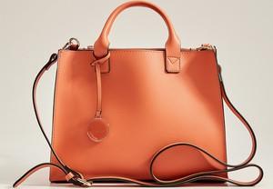 Pomarańczowa torebka Mohito duża w wakacyjnym stylu