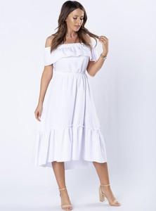 Sukienka Omnido.pl z krótkim rękawem