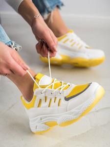 Buty sportowe Czasnabuty sznurowane z zamszu z płaską podeszwą