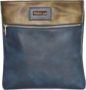 Granatowa torebka Molly Lo w młodzieżowym stylu