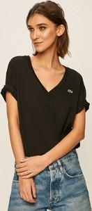 T-shirt Lacoste z dekoltem w kształcie litery v w stylu casual