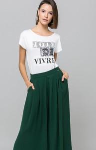 Bluzka Monnari z krótkim rękawem w stylu glamour z okrągłym dekoltem