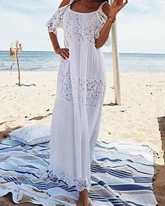 Sukienka Kendallme maxi z krótkim rękawem oversize