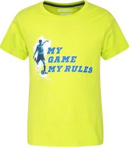 Żółta koszulka dziecięca Mountain Warehouse z tkaniny dla chłopców