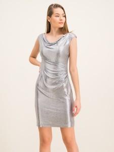 Srebrna sukienka Ralph Lauren z krótkim rękawem