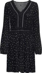 Czarna sukienka bonprix RAINBOW koszulowa z dekoltem w kształcie litery v w stylu casual