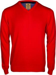 Czerwony sweter WARESHOP w stylu casual