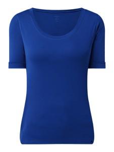 Niebieski t-shirt Marc Cain z krótkim rękawem