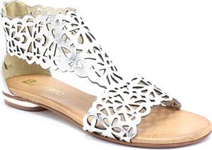 Sandały Tymoteo w stylu casual ze skóry z płaską podeszwą