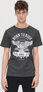 T-shirt Cropp z nadrukiem z bawełny