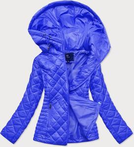 Niebieska kurtka Goodlookin.pl z kapturem w stylu casual