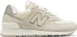 Buty sportowe New Balance z płaską podeszwą ze skóry