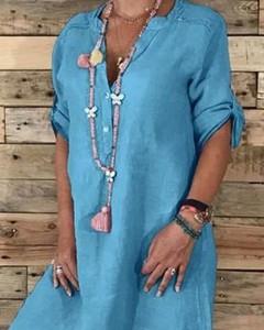 Sukienka Kendallme midi z długim rękawem z bawełny