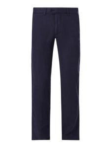 Granatowe spodnie Christian Berg Men z lnu