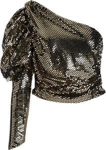 Złota bluzka Multu z długim rękawem