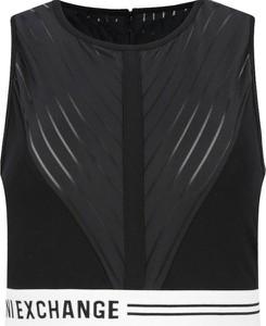 Czarny top Armani Jeans z okrągłym dekoltem