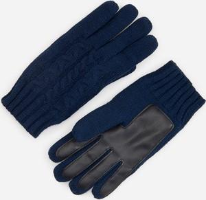 Granatowe rękawiczki Reserved