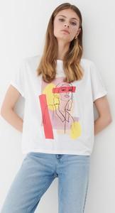 T-shirt Mohito z okrągłym dekoltem z bawełny z nadrukiem
