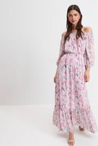 Sukienka Mohito hiszpanka maxi z długim rękawem