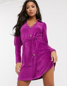 Fioletowa sukienka Asos Design szmizjerka