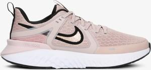 Różowe buty sportowe Nike na platformie sznurowane