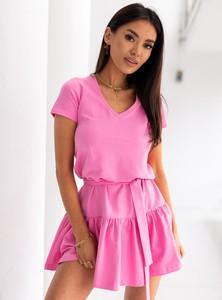 Sukienka SELFIEROOM w stylu casual z dekoltem w kształcie litery v mini