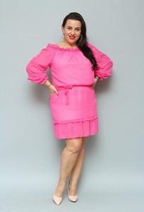 Różowa sukienka KARKO mini hiszpanka