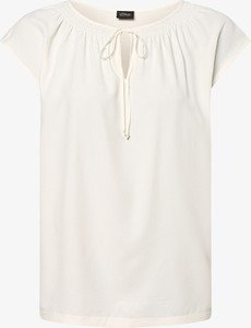 T-shirt S.Oliver Black Label ze sznurowanym dekoltem