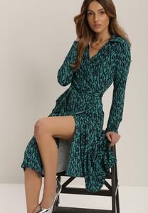 Sukienka Renee kopertowa z długim rękawem midi
