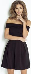 Granatowa sukienka Wow Fashion z krótkim rękawem z bawełny mini