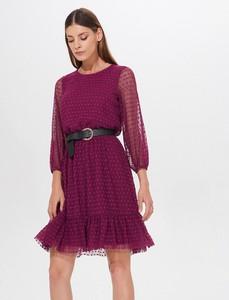 Fioletowa sukienka Mohito z tkaniny mini