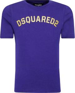 Niebieska koszulka dziecięca Dsquared2