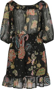 Sukienka Liu-Jo z długim rękawem z okrągłym dekoltem midi