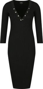 Sukienka Elisabetta Franchi dopasowana z długim rękawem