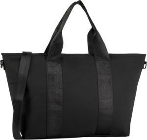 Czarna torebka Pepe Jeans w stylu glamour matowa na ramię