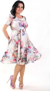 Sukienka Oscar Fashion midi rozkloszowana
