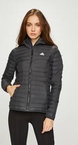 Czarna kurtka Adidas Performance krótka w stylu casual