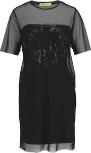 Czarna halka Versace Jeans z krótkim rękawem