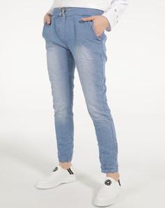 Jeansy Unisono z bawełny w stylu casual
